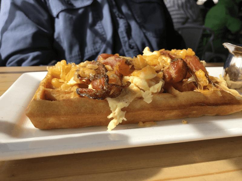 Morning Glory breakfast waffle