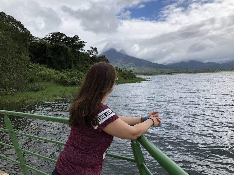 Lake alongside Arenal Volcano