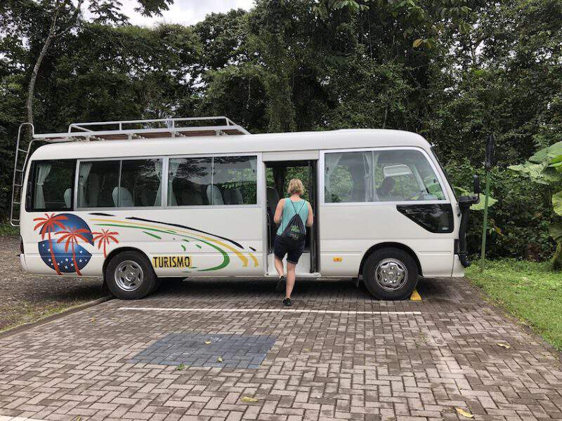 Private motor coach in Costa Rica