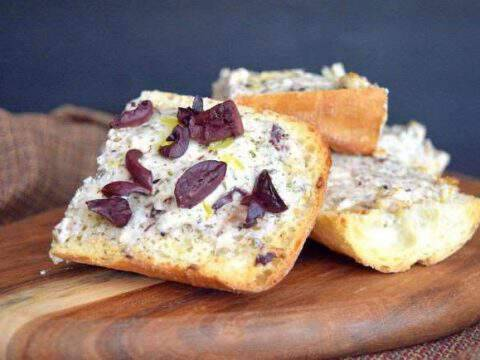 Delicious Greek Bread with Kalamata Olives