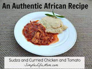 African Curry Chicken Stew with Sudza (Grits)