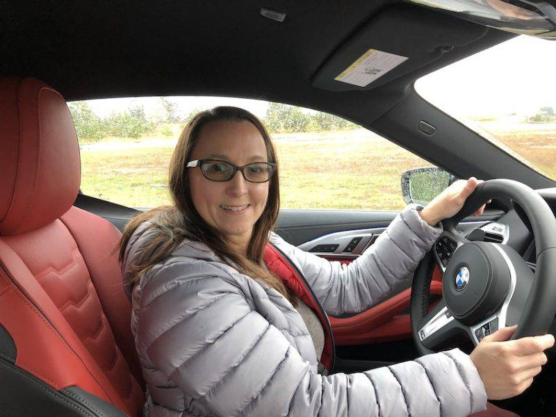 Driver behind the wheel BMW M850i