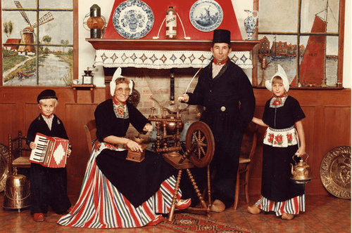Family in Traditional Dutch Costues