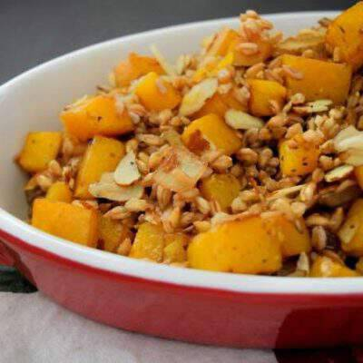 Easy Roasted Butternut Squash and Farro Salad