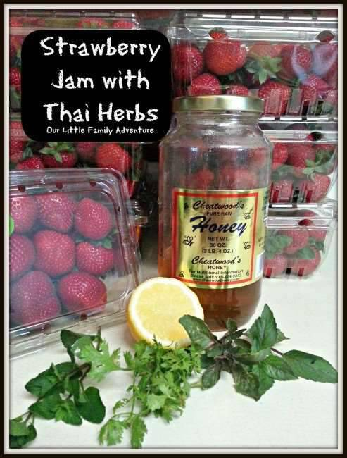 Strawberry Jam with Thai Herbs
