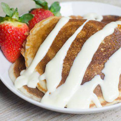 This Cinnamon Roll Pancakes Recipe will make you rethink what's for breakfast