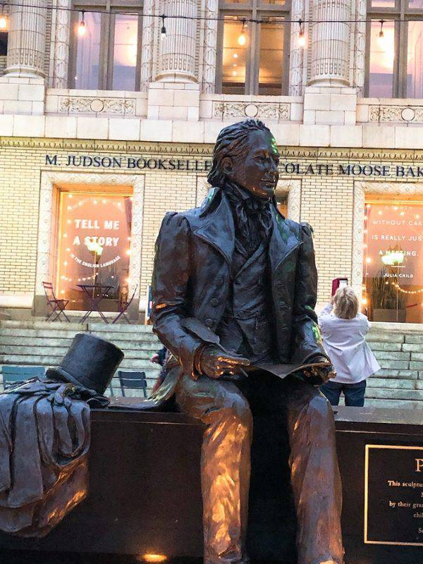 Greenville public art - statute of Mr. Poinsett