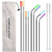 Stainless Steel Straws Set of 8