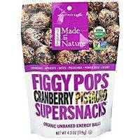 Made in Nature Figgy Pops, Cranberry Pistachio
