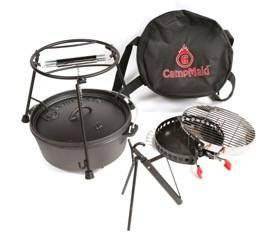 CampMaid Cast Iron Dutch Oven Set