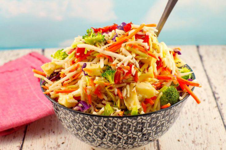 Artichoke & Red Pepper Coleslaw