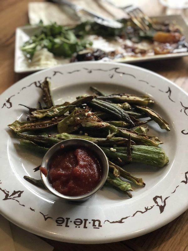 Blistered Okra Fries