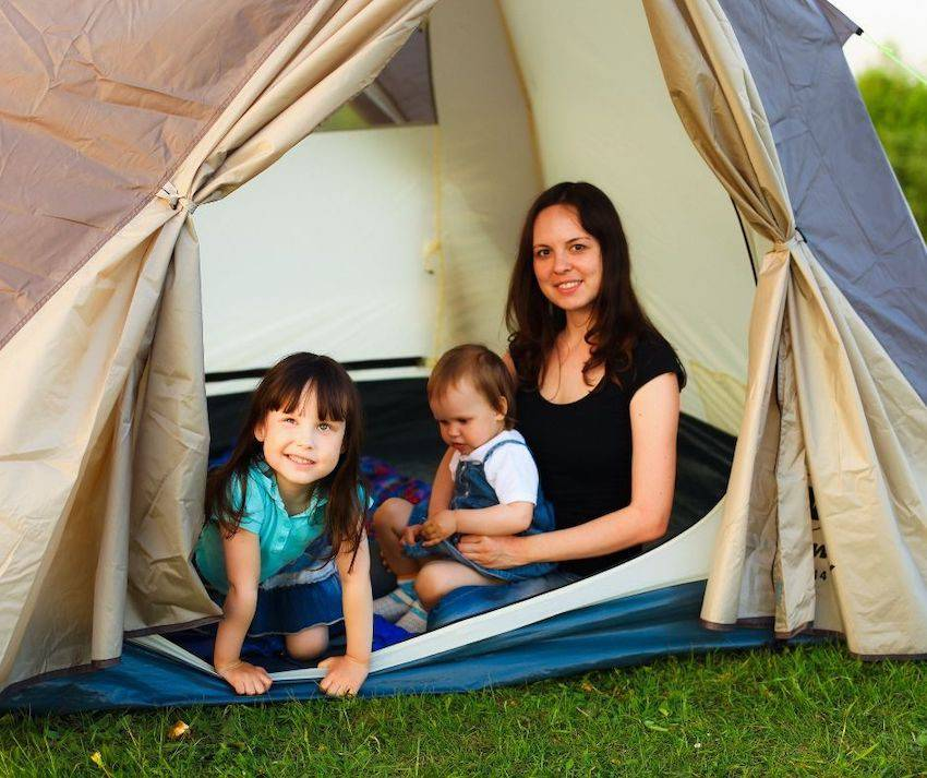 Camping with babies and young children