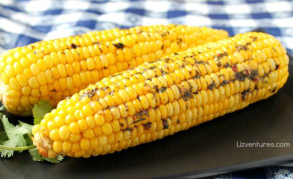 Oven Roasted Sweet Corn with Cilantro Lime Butter Recipe