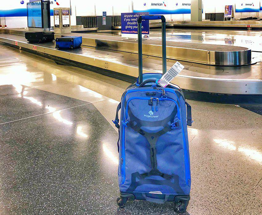 Wheeled Duffel Bag at baggage pick up