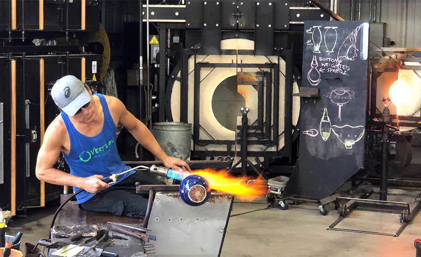 Morean Arts Center Glassblower