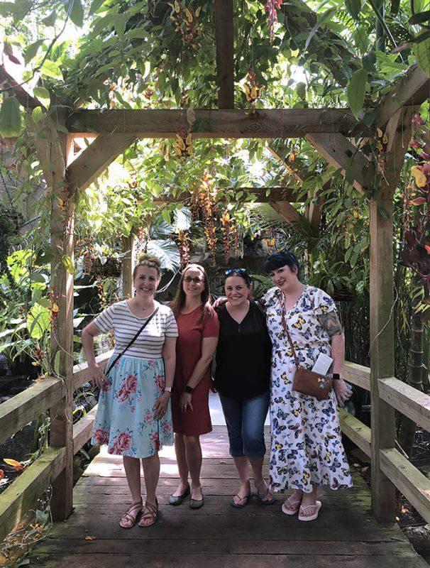 women at Myriad Gardens