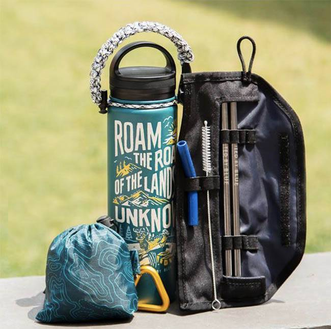 Insulated Bottle and Straw Kit