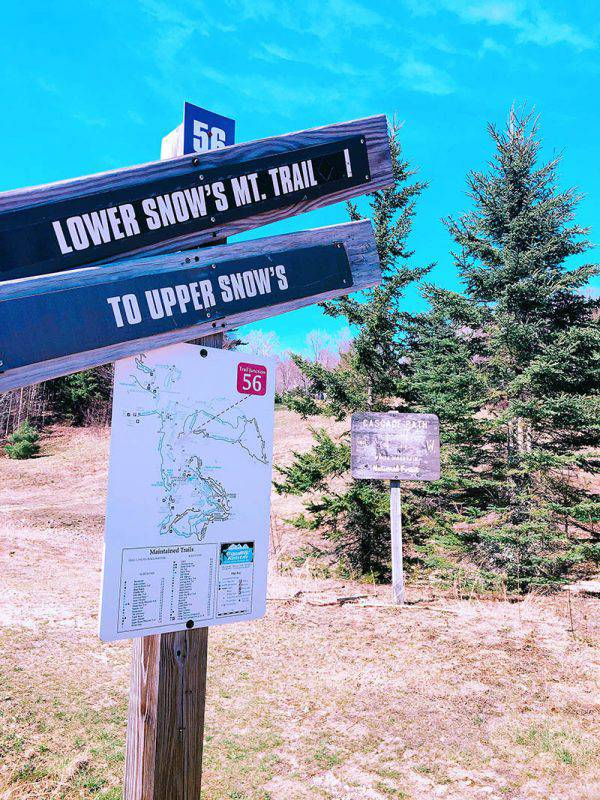 Snow Mountain Trail sign