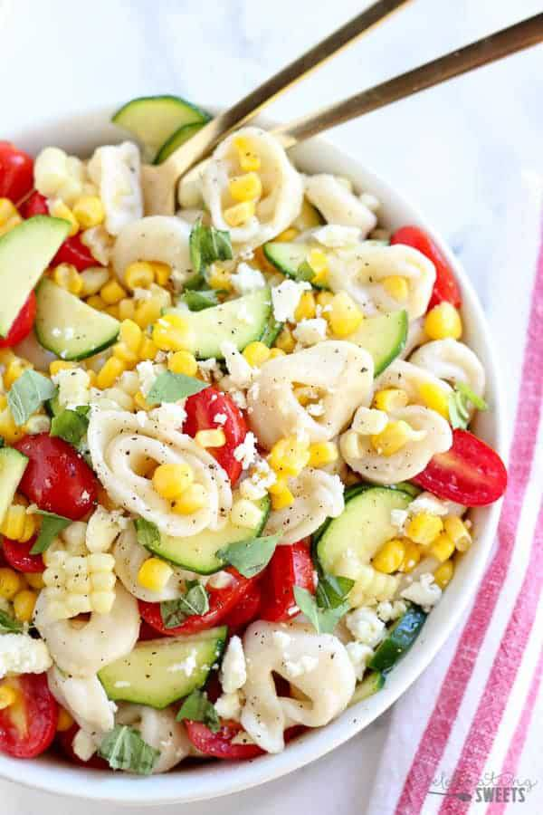 Summer Corn, Tomato, and Tortellini Pasta Salad