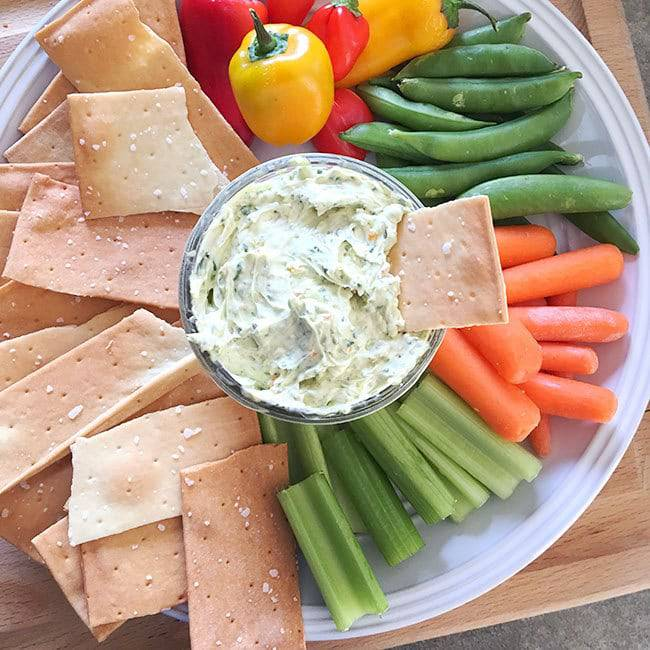 Easy  Cheese Veggie Dip