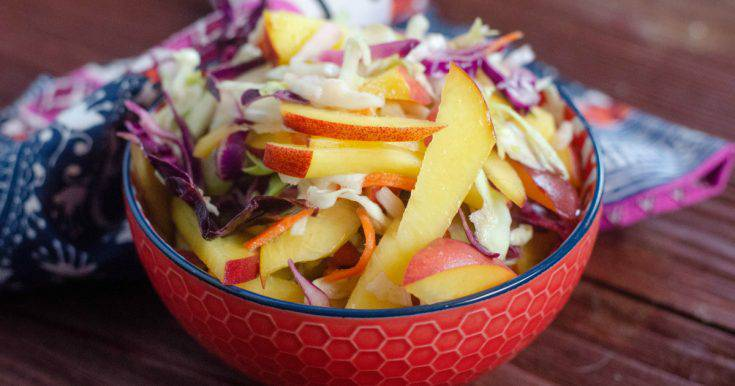 Fresh Peach Coleslaw Recipe