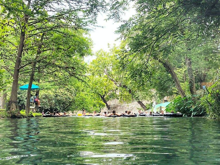 Comal River tubing