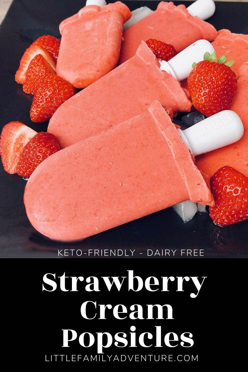 Strawberry Coconut Milk Keto Popsicle