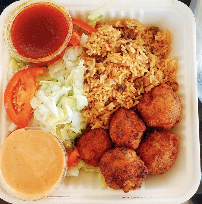 conch fritters lunch