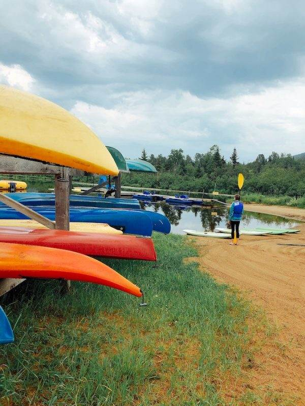 lakeside recreation, kayaks