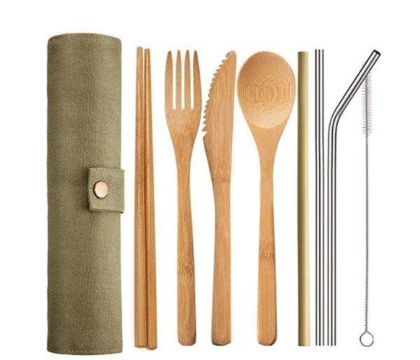 Reusable Travel Cutlery and Straws