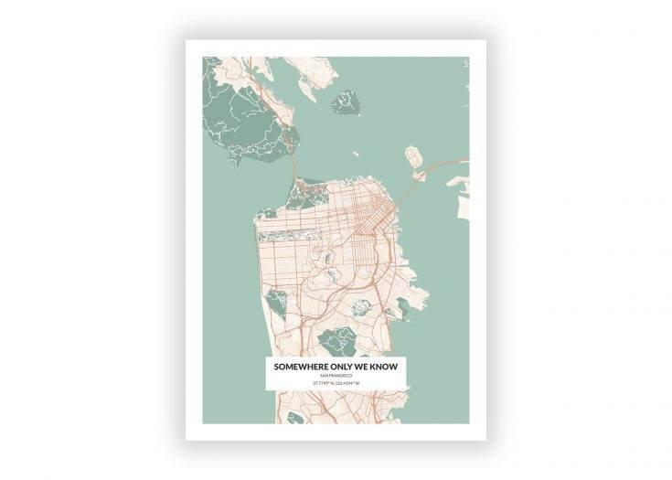 Customized Map Wallart