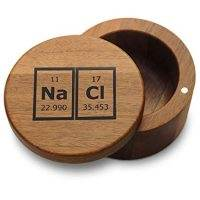 Acacia Wood Salt Box NaCl Breaking Bad Style Periodic Elements