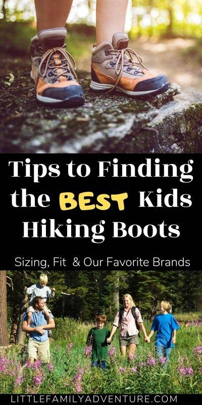 kids hiking boots graphic