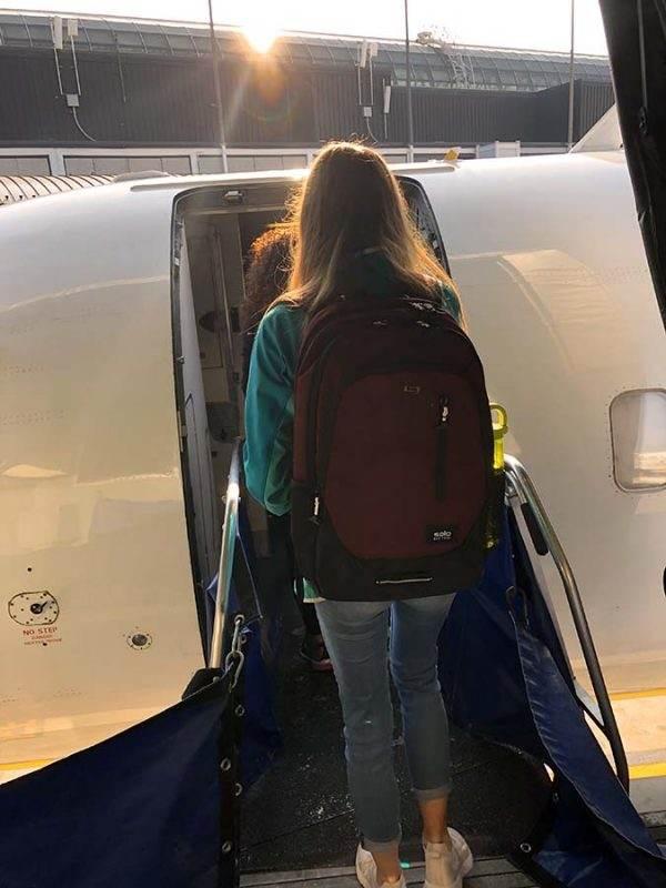 boarding a plane