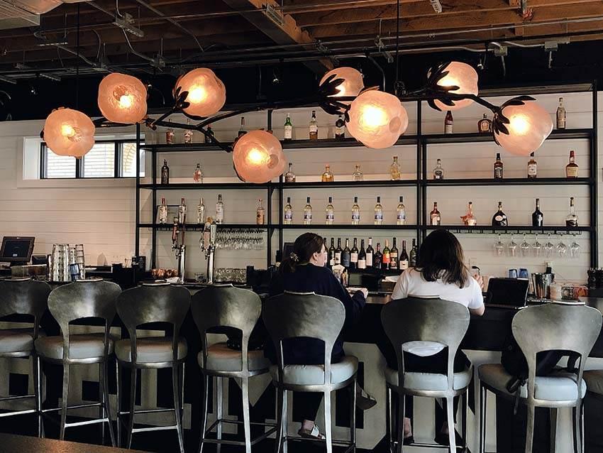 Cotton chandelier - Nellie's Restaurant