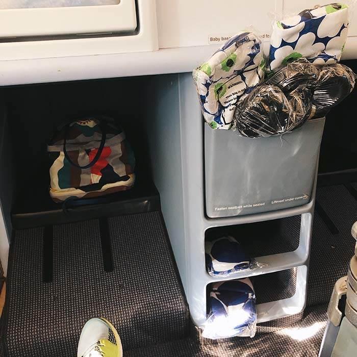 Finnair Business CLass Legroom