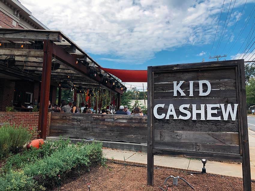 Kid Cashew restaurant patio in Dilworth