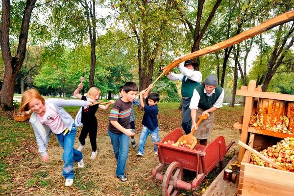 Kids at Old Salem