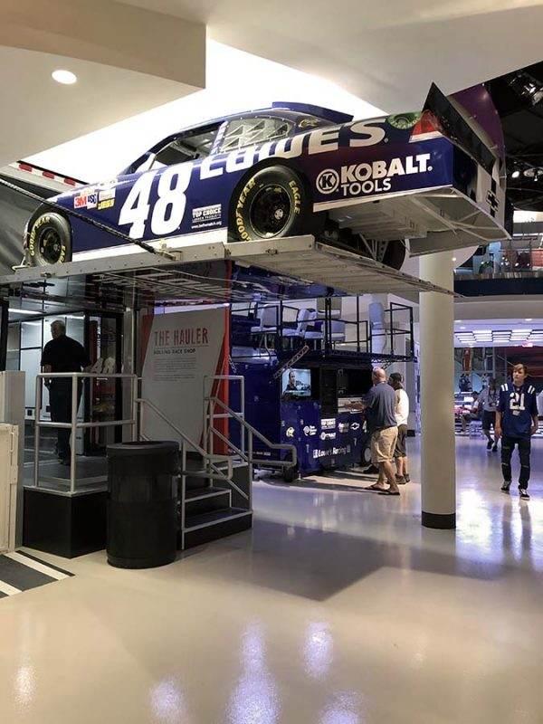 NASCAR car hauler - NASCAR Hall of Fame