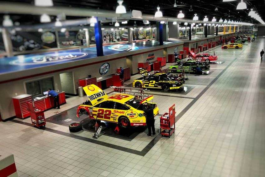 Penske NASCAR team race shop
