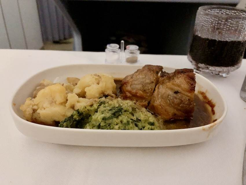 Roasted Pork Collar - Finnair Business Class