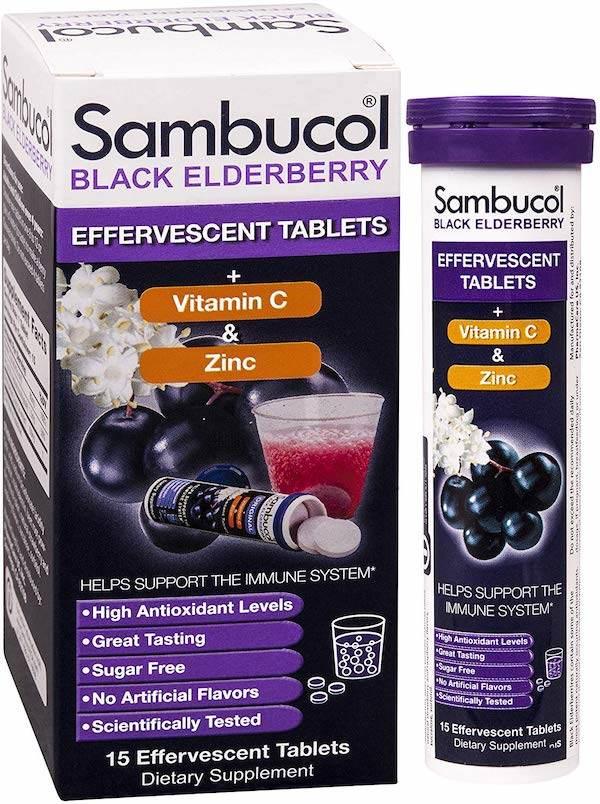 Sambucol Elderberry Effervescent Tablets