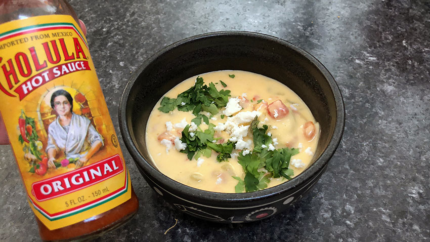 queso with cholula