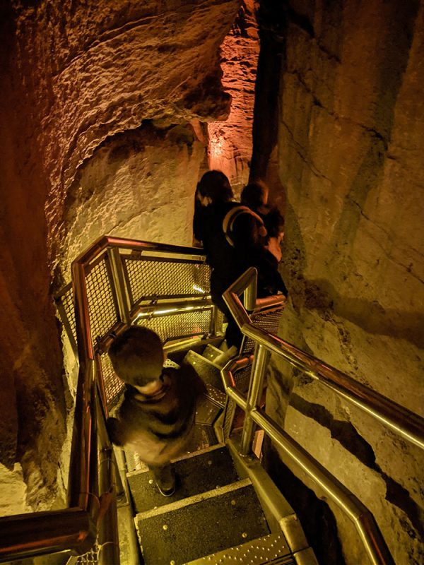 Mammoth Cave cave tour staircase