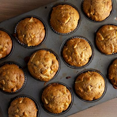 Healthy Recipe for Apple Muffins with Walnuts
