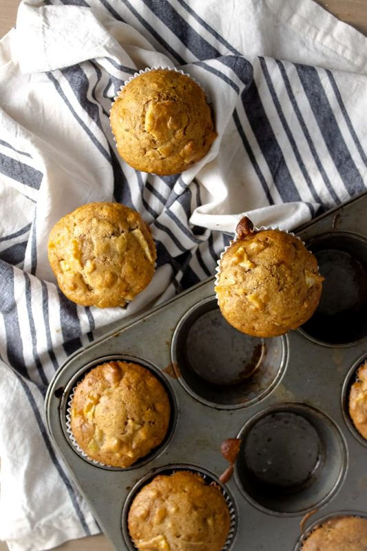 apply muffins out of pan with towel
