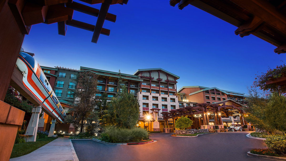 Grand Californian Exterior Monorail