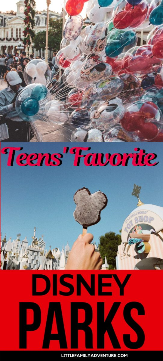 teens favorite disney parks graphic