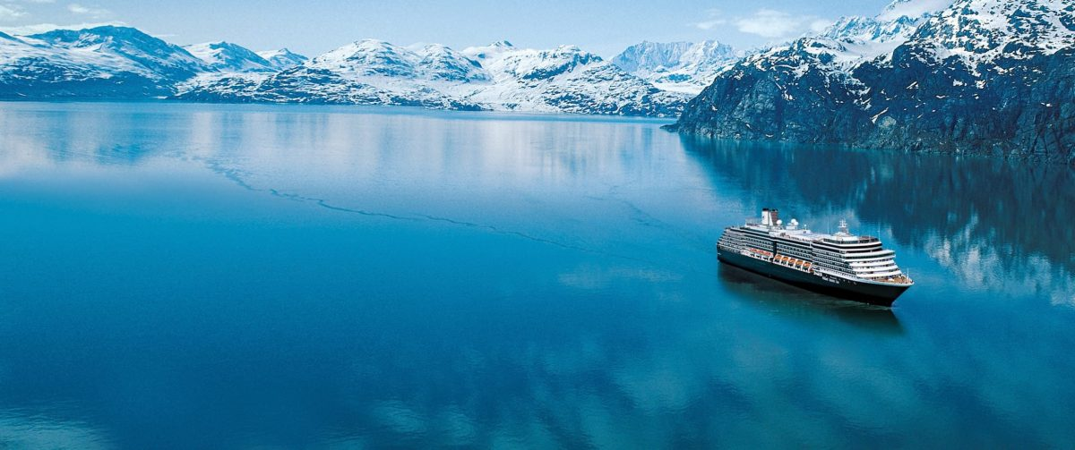 Glaciers and cruise ship